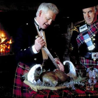 HAGGIS DRESSED FOR BURNS SUPPER, Scotland.